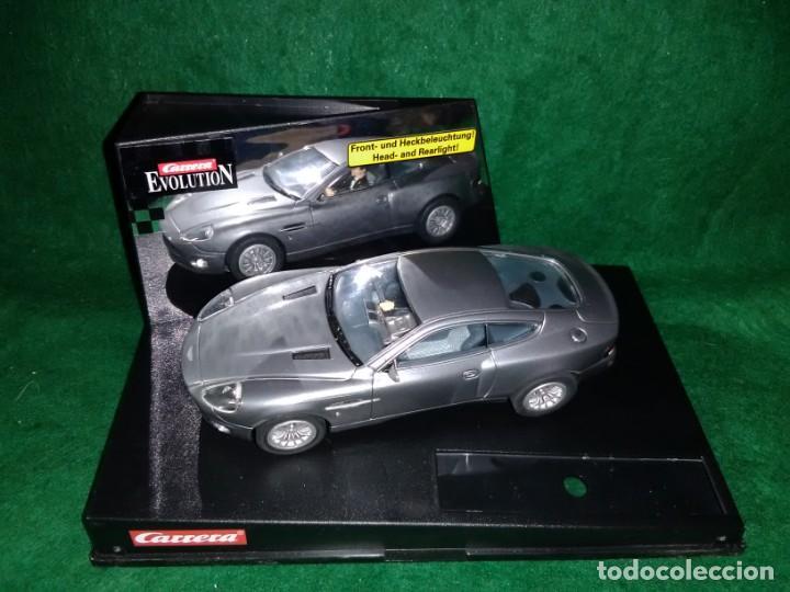 LOTE OFERTA COCHE SLOT CAR DE PISTA TIPO SCALEXTRIC - CARRERA EVOLUTION - ASTON MARTIN V12 VANQUISH (Juguetes - Slot Cars - Team Slot)
