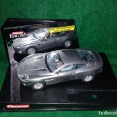 Slot Cars: LOTE OFERTA COCHE SLOT CAR DE PISTA TIPO SCALEXTRIC - CARRERA EVOLUTION - ASTON MARTIN V12 VANQUISH. Lote 189523932