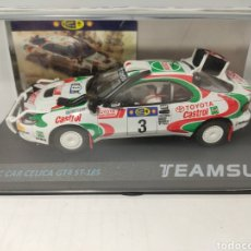 Slot Cars: TEAM SLOT TOYOTA CELICA GR4 ST-185 RALLY SAFARI 95 REF. SRE013. Lote 190040358