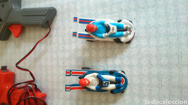 Slot Cars: Mandos,dos coches, transformador, de scalectrix carreras,1980 - Foto 4 - 194126270