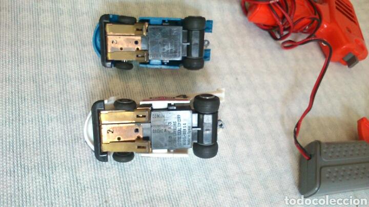 Slot Cars: Mandos,dos coches, transformador, de scalectrix carreras,1980 - Foto 5 - 194126270