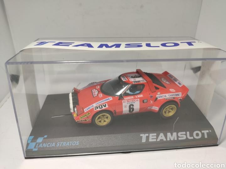 TEAM SLOT LANCIA STRATOS TOUR DE CORSE 1975 REF. 11516 (Juguetes - Slot Cars - Team Slot)