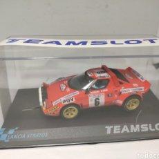 Slot Cars: TEAM SLOT LANCIA STRATOS TOUR DE CORSE 1975 REF. 11516. Lote 201904126