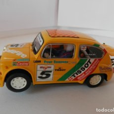 Slot Cars: SCALEXTRIC - FIAT 600 ABARTH TISSOT - REF. 6146 - PERFECTO ESTADO - VER FOTOS Y DESCRIPCION. Lote 204679112