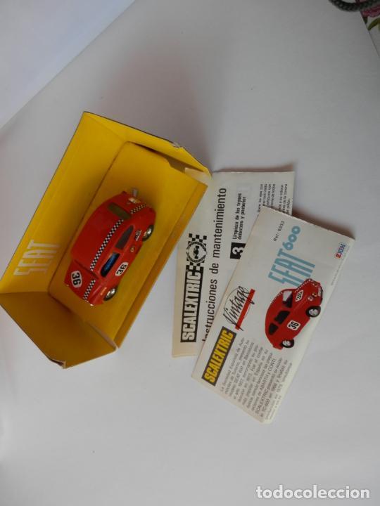 Slot Cars: SCALEXTRIC - SEAT 600 VINTAGE - Ref. 8333 - PERFECTO ESTADO - VER FOTOS Y DESCRIPCION - Foto 6 - 204683156