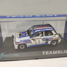 Slot Cars: TEAMSLOT RENAULT 5 TURBO DANUBE RALLYE 1983 REF. 11808 TEAM SLOT. Lote 204790003