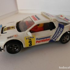Slot Cars: SCALEXTRIC - FORD R5 200 - PUROLATOR - PERFECTO ESTADO - VER FOTOS Y DESCRIPCION. Lote 204807516