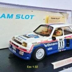 Slot Cars: TEAM SLOT REF 72702 RENAULT 5 TURBO ROTHMANS - F ATTILA / T JÁNOS - DECIMO RALLY COSTA BRAVA 1985. Lote 206123063