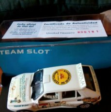 Slot Cars: LANCIA DELTA INTEGRALE SALON DEL HOBBY TEAM SLOT SCALEXTRIC. Lote 213532106