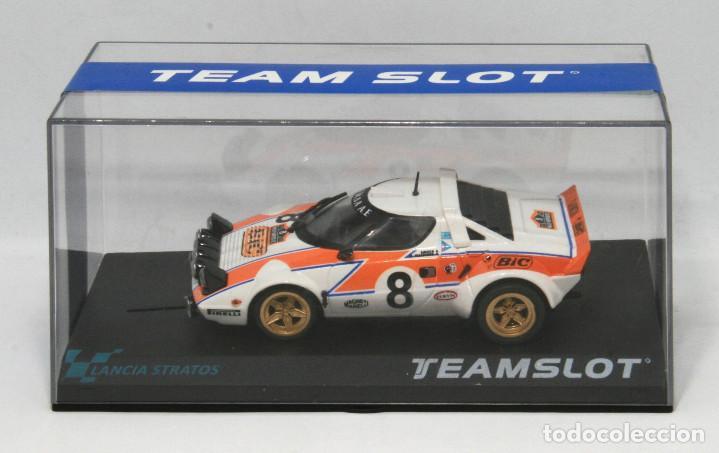 LANCIA STRATOS BIC RALLYE ACROPOLIS 1978 (TEAM SLOT) (Juguetes - Slot Cars - Team Slot)