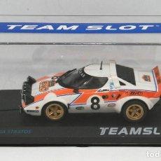 Slot Cars: LANCIA STRATOS BIC RALLYE ACROPOLIS 1978 (TEAM SLOT). Lote 215653531