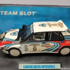 Slot Cars: TEAM SLOT LANCIA DELTA HF INTEGRALE MARTINI SAFARI RALLY' 91 REF. 11206. Lote 221784418