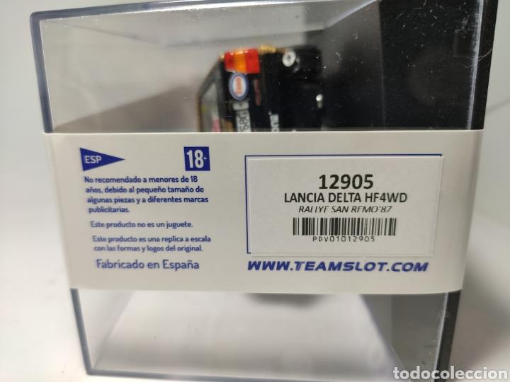 Slot Cars: TEAM SLOT LANCIA DELTA HF 4WD RALLYE SAN REMO87 ESSO REF. 12905 - Foto 4 - 262459555