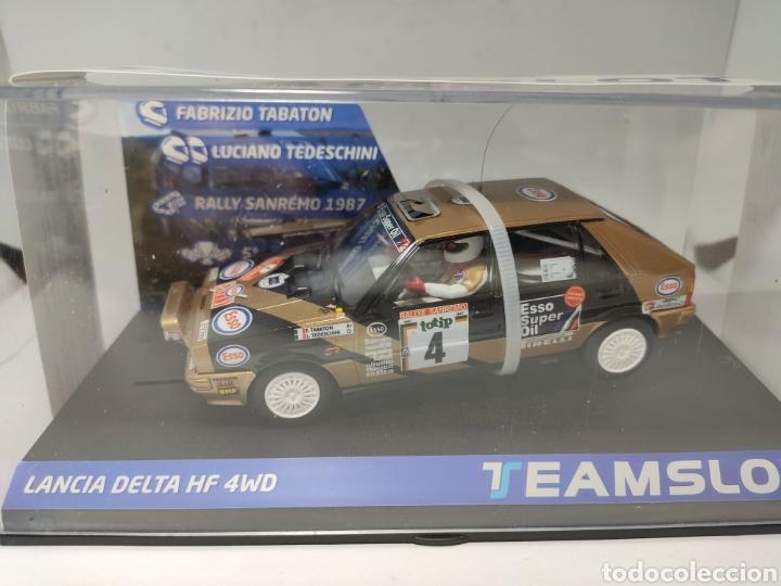 TEAM SLOT LANCIA DELTA HF 4WD RALLYE SAN REMO'87 ESSO REF. 12905 (Juguetes - Slot Cars - Team Slot)