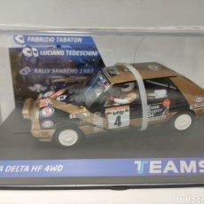 Slot Cars: TEAM SLOT LANCIA DELTA HF 4WD RALLYE SAN REMO'87 ESSO REF. 12905. Lote 223023232