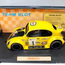 Slot Cars: TEAM SLOT VW BEETLE TUNING GT1 ESSO REF. 70103 RESINA EDICIÓN LIMITADA. Lote 223066988