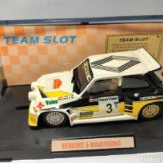 Slot Cars: TEAM SLOT RENAULT 5 MAXITURBO CARLOS SAINZ RESINA REF. 70501 EDICIÓN LIMITADA.. Lote 223067240