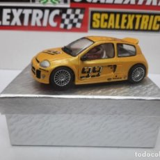 """Slot Cars: RENAULT CLIO V6 """" TROPHY """" # 99 RESINA SCALEXTRIC. Lote 223932318"""