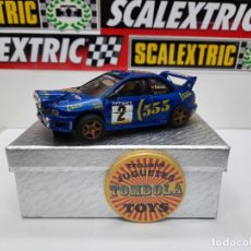 "Slot Cars: SUBARU ""CARLOS SAINZ "" ((RESINA)) TEAM SLOT SCALEXTRIC. Lote 224812307"