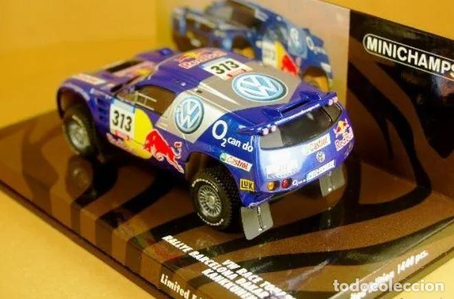 Slot Cars: MiniChamps - Race Touareg Volkswagen. Rally Barcelona-Dakar 2005-Ed limitada 1440 und - Foto 3 - 226871939