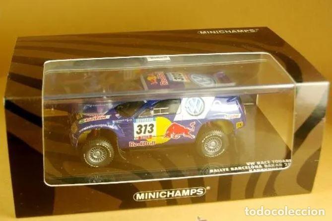 Slot Cars: MiniChamps - Race Touareg Volkswagen. Rally Barcelona-Dakar 2005-Ed limitada 1440 und - Foto 5 - 226871939