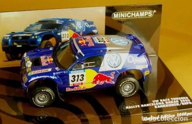 MINICHAMPS - RACE TOUAREG VOLKSWAGEN. RALLY BARCELONA-DAKAR 2005-ED LIMITADA 1440 UND (Juguetes - Slot Cars - Team Slot)
