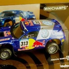 Slot Cars: MINICHAMPS - RACE TOUAREG VOLKSWAGEN. RALLY BARCELONA-DAKAR 2005-ED LIMITADA 1440 UND. Lote 226871939