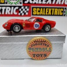 Slot Cars: FERRARI 250 GTO TARGA FLORIO 1963 #106 PINK KAR SCALEXTRIC. Lote 228665610