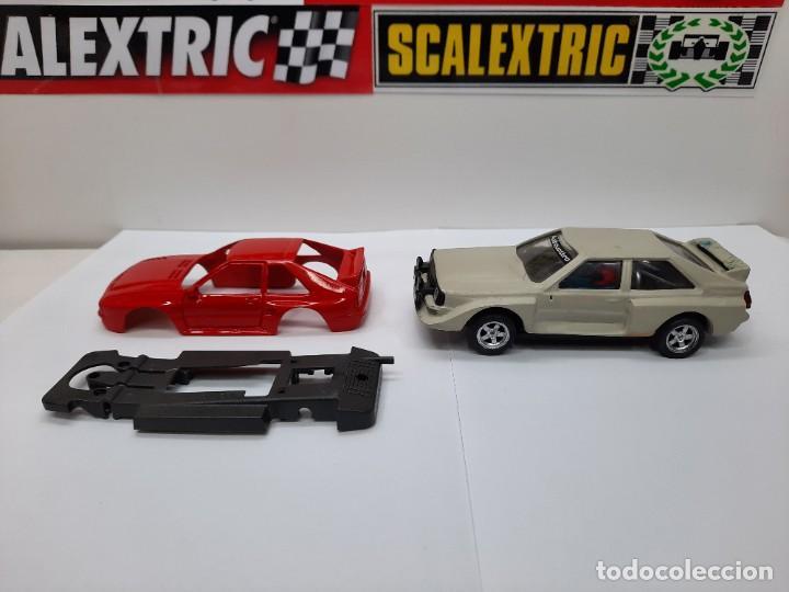 Slot Cars: 2 AUDI QUATTRO #RESINA# CHASIS EXIN TEAM SLOT SCALEXTRIC - Foto 2 - 224907048