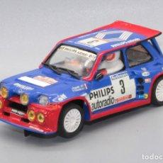 Slot Cars: RENAULT 5 MAXI TURBO PHILIPS JEAN RAGNOTTI 1º TOUR DE CORSE 1985 (TEAM SLOT). Lote 235958520