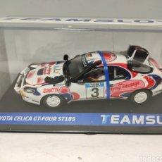 Slot Cars: TEAM SLOT TOYOTA CELICA GT4 ST185 SAFARI 1994 REF. 11708. Lote 237556590