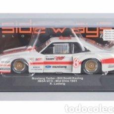Slot Cars: SW46- MUSTANG TURBO IMSA 1981 Nº73 DE SIDEWAYS. Lote 254992550