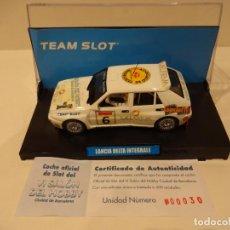 Slot Cars: TEAM SLOT. LANCIA DELTA INTEGRALE. VI SALON DEL HOBBY. ED.LTA. 500 UNIDADES. Lote 261283390