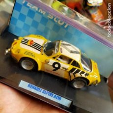 Slot Cars: ANTIGUO COCHE DE RALLY TEAM SLOT RENAULT ALPINE A110 - SCALEXTRIC SCX - EN SU CAJA. Lote 267339529