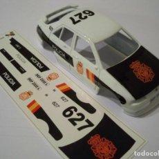 Slot Cars: DECALS / CALCAS AL AGUA ESCALA 1/32 SEAT TOLEDO POLICÍA NACIONAL. Lote 267420549