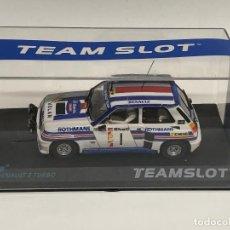 Slot Cars: TEAM SLOT RENAULT 5 TURBO ROTHMANS DANUBE #11808 RALLYE 1983 SCALEXTRIC NUEVO. Lote 267510329