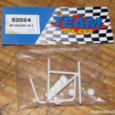 Slot Cars: TEAM SLOT - KIT RACING TS-2 - 52024 - BARRAS ANTIVUELCO Y FARERA - NUEVO A ESTRENAR. Lote 274311413