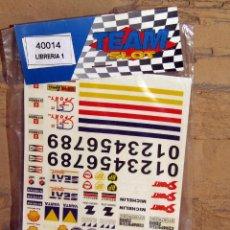 Slot Cars: TEAM SLOT - HOJA ADHESIVOS, CALCAS O PEGATINAS - LIBRERIA 1 - 40014 - NUEVOS A ESTRENAR. Lote 274312683