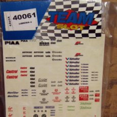 Slot Cars: TEAM SLOT - HOJA ADHESIVOS, PEGATINAS, CALCAS - LIBRERIA 6 - 40061 - NUEVOS A ESTRENAR. Lote 274312748