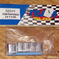 Slot Cars: TEAM SLOT - CONTRAPESOS 2,5 Y 5 GRS. - 52011 - NUEVOS A ESTRENAR. Lote 274312853