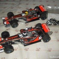 Slot Cars: 2 COCHE DE SCALEXTRIC SUPERSLOT VODAFONE MERCEDES MCLAREN MP4-21 + BOLSA CON RECAMBIOS. Lote 276420438
