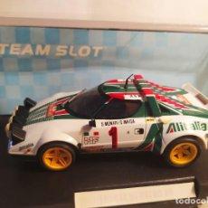 Slot Cars: LANCIA STRATOS ALITALIA DE TEAM SLOT. Lote 277825033