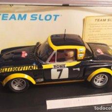 Slot Cars: FIAT 124 ABARTH SPYDER OLIO FIAT DE TEAM SLOT. Lote 277825273