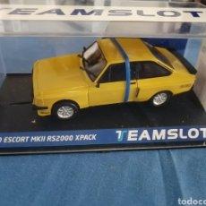 Slot Cars: NOVEDAD - 13002. FORD ESCORT MKII RS200 DAYTONA YELLOW DE TEAM SLOT. Lote 287227783