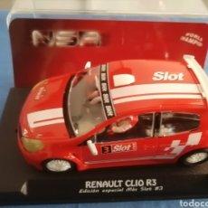 Slot Cars: RENAULT CLIO EDICION ESPECIAL MAS SLOT SOLO 200 UNIDADES DE NSR. Lote 292358643