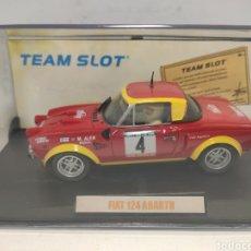 Slot Cars: TEAM SLOT FIAT 124 ABARTH PORTUGAL 75 REF. 74702 EDICIÓN LIMITADA. Lote 293666763