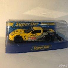 Slot Cars: CORVETTE C6R AMARILLO SUPERSLOT N4 ESCALA 1:32. Lote 293804583