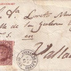 Sellos: SOBRE MECANIZADO 4 CUARTOS 1862 FECHADOR TIPO II DE ARENAS DE SAN PEDRO (AVILA) NO CATALOGADO . Lote 14684205