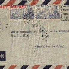 Sellos: SOBRE FILATELICO MANDADO DEL CONSULADO DE CUBA EN LA CORUÑA. DIRIGIDO AL SEÑOR MINISTRO DE EST. CUBA. Lote 18621520