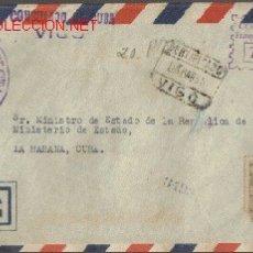 Sellos: SOBRE FILATELICO MANDADO DEL CONSULADO DE CUBA EN VIGO. DIRIGIDO AL SR. MINISTRO DE EST. CUBA. Lote 12907411